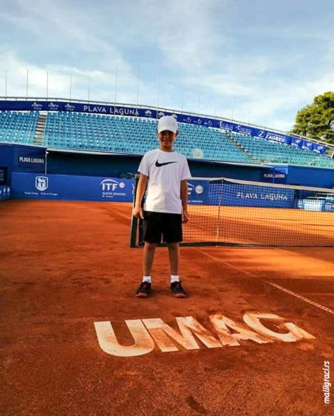 Mali teniser Pavle Stojiljković, TK Šumice Leskovac