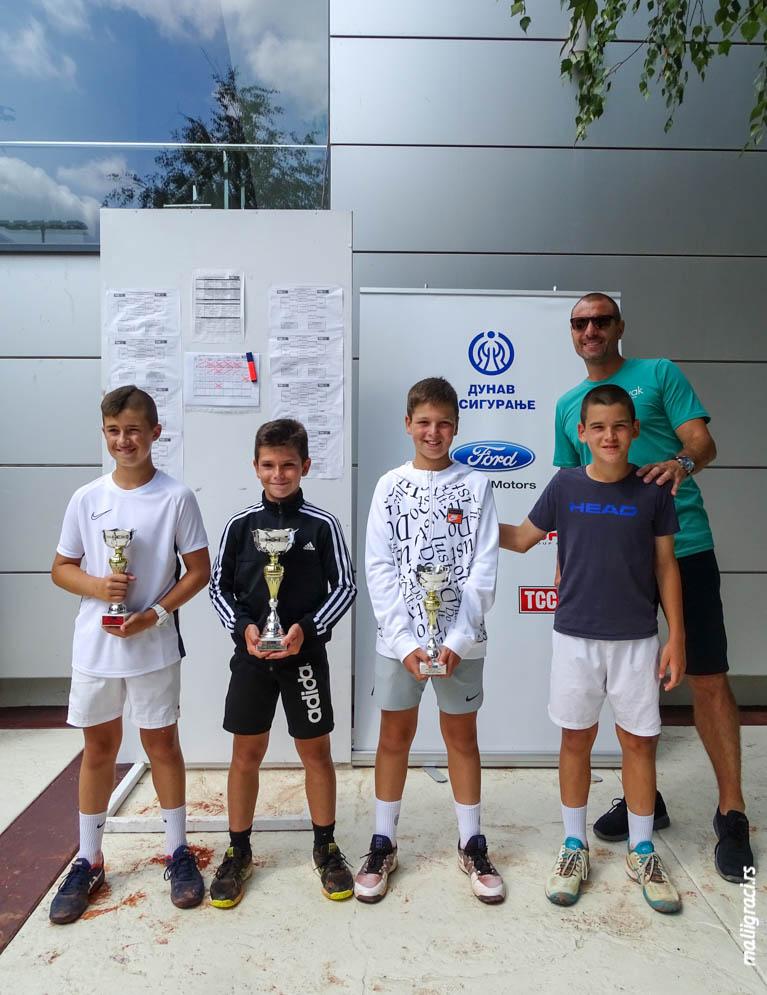 Andrej Marković, Lazar Luković, Vanja Nikolić, Marko Šavija, Masters TSS TOUR, Teniski savez Srbije, Teniski centar Novak Beograd