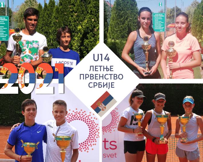 Retrospektiva letnjih prvenstava Srbije do 14 godina, Letnje prvenstvo Srbije do 14 godina, Teniski savez Srbije
