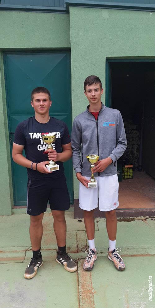 Nikola Jovanović, Saša Marković, SUPER 4 do 18 godina, Teniski klub Stari grad Šabac, Teniski savez Srbije
