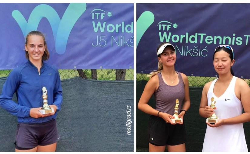 Jovana Grujić, Mirjana Jovanović, Wanyi Zhang, ITF J5 TREBJESA OPEN 2021, TK Nikšić Crna Gora