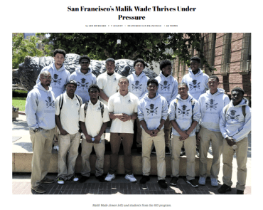 San Francisco Native Malik Wade Thrives Under Pressure – Oakland Post By Lee Hubbard