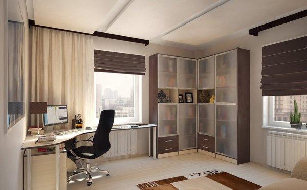 Обустройство рабочего места в квартире (9 идей с фото)