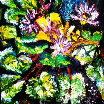 Lily Pond, Art by Malinda Knowles