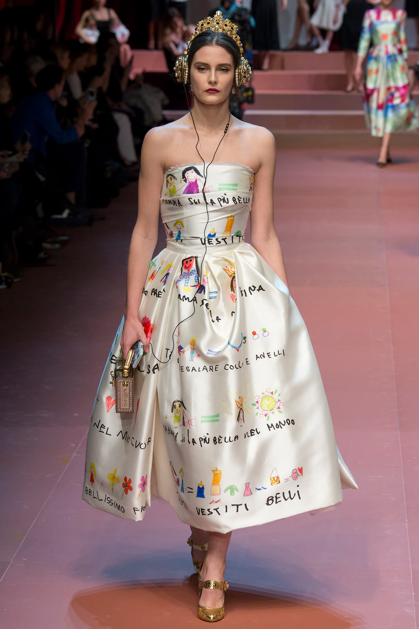 4d336e9e8f So, Dolce & Gabbana dedicated their show to mothers during Milan Fashion  Week. They also featured a dress with children's drawings and the most  gorgeous ...