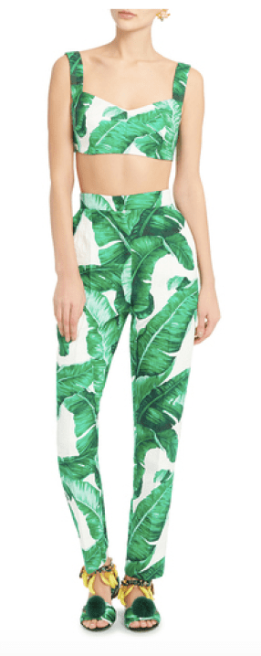 palm leaf outfit dolce & gabbana