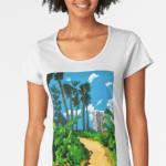 Walk To The Beach Women's T-Shirt