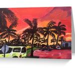 Sunset on a Florida Parking Lot Stationery