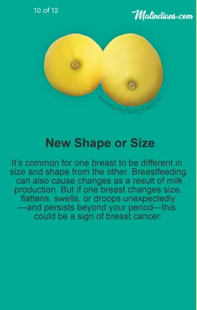 new shape or size - No bra day -  the best reason to take it off