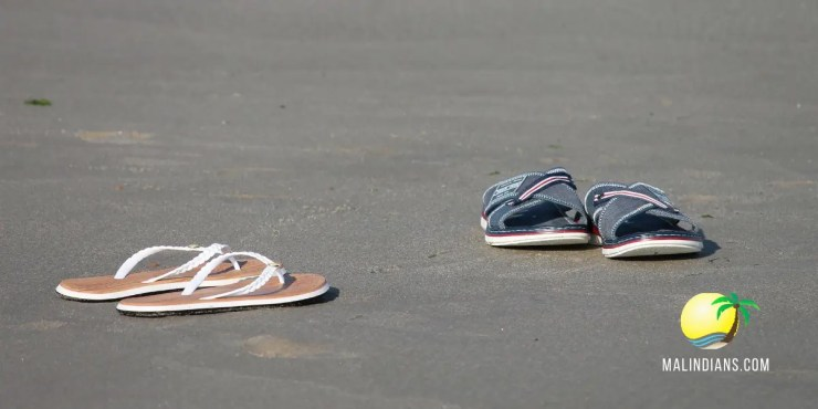flip flops and open shoes on malindi beaches - 7 outfit ideas for men on Malindi Beaches