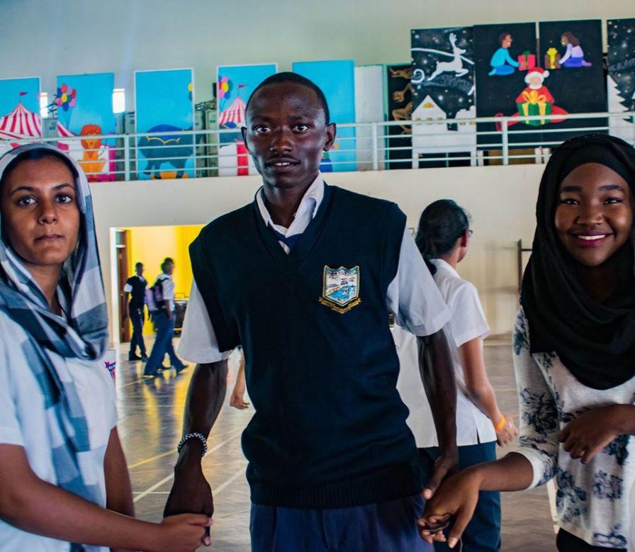 Barani Secondary school students