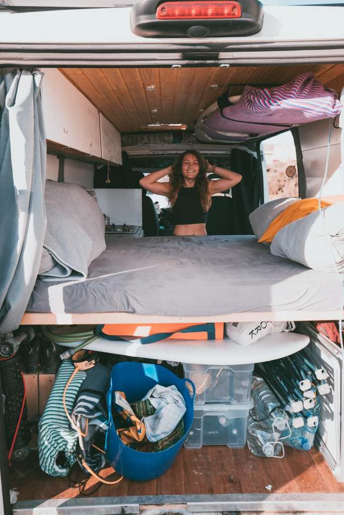 Vanlife Girl Travel Surfboards Space