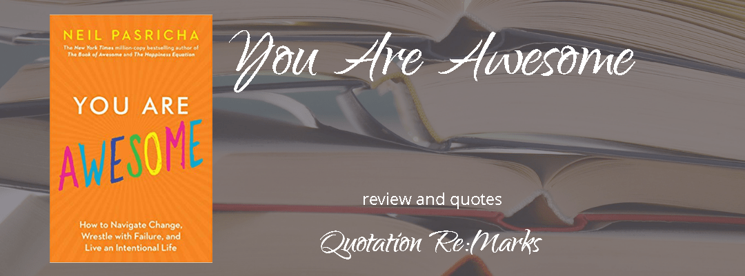 You are Awesome by Neil Pasricha, book review and quotes
