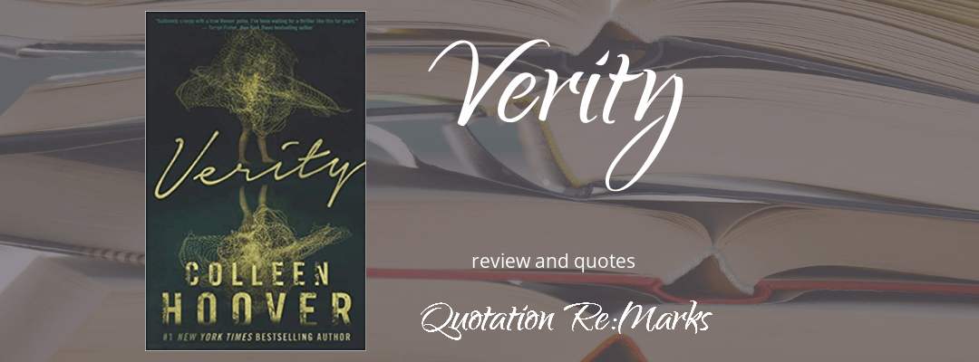 Verity by Colleen Hoover book review and best quotes on Quotation Re:Marks