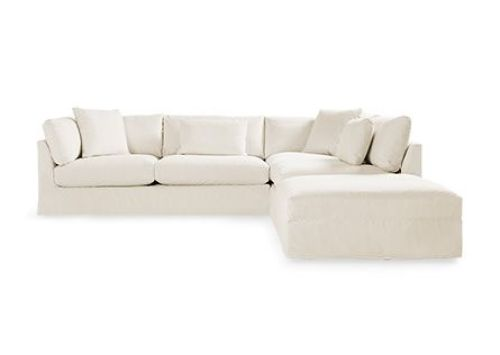Pavo Slipcovered 3 Piece Sectional in Dyno Natural