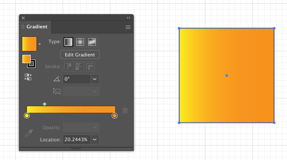 Gradient slider on gradient tool that can be used in Computer Science visualizations