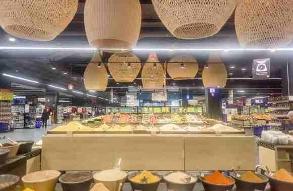 Intérieur de l'hypermarché Marjane de Arribat Center