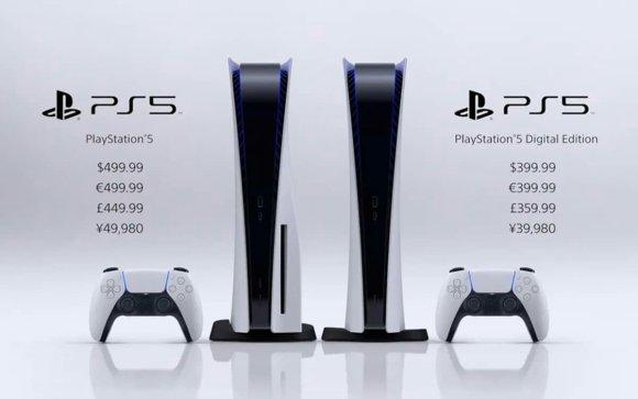 La Playstation 5 et la Playstation Digital Edition avec la manette de jeux