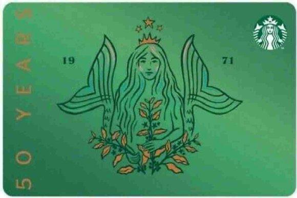 Dessin special anniversaire de Starbucks 50 ans