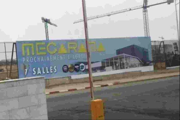 vue du Megarama agadir en construction
