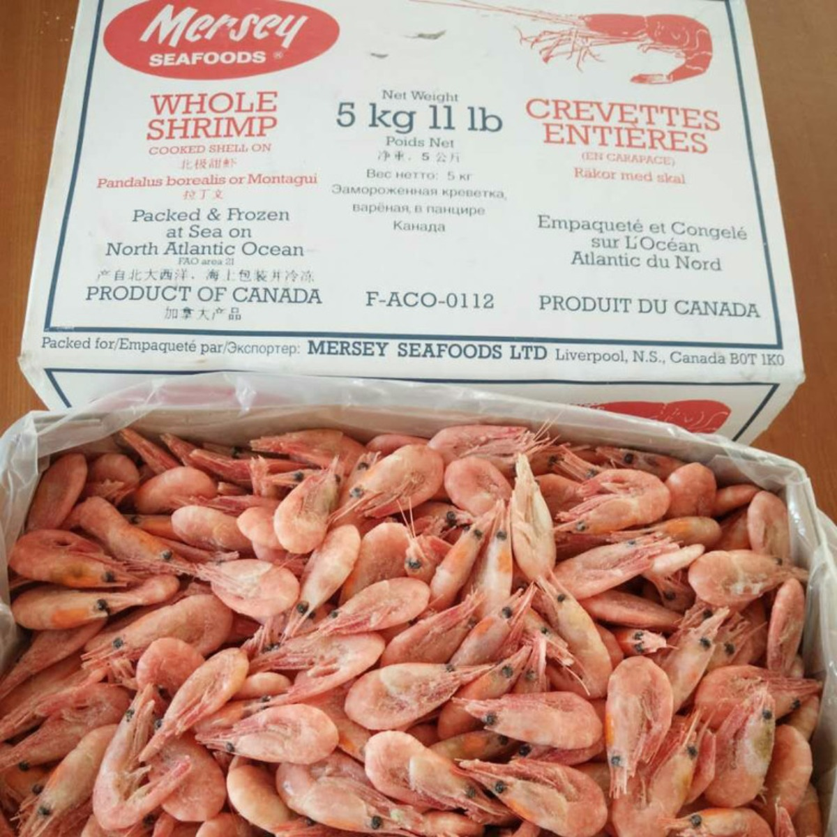 Mersey Whole Shrimp 北极甜虾 11 Lb (5kg)