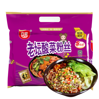 BaiJia Pickled Cabbage Flavor Instant Vermicelli 白家 老坛酸菜粉丝 550g