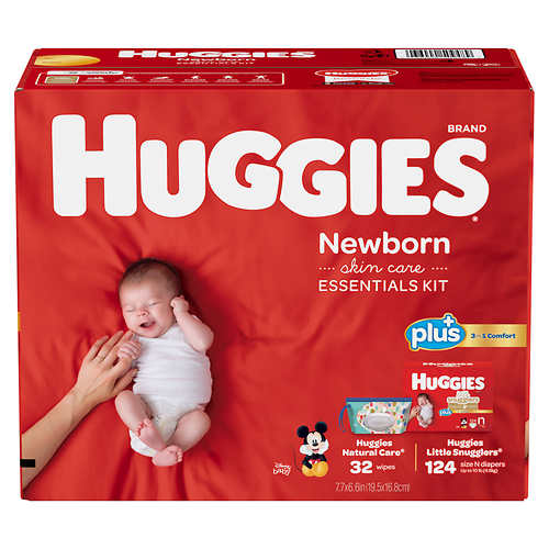 Huggies Plus Diapers Newborn Skin Care Essentials Kit