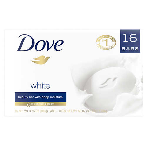 Dove White Bar Soap 3.75 oz, 16 Bars