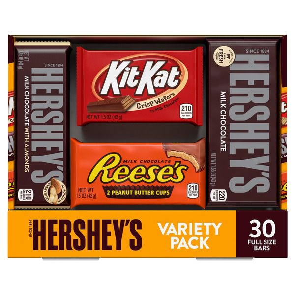 Hershey's Assorted Bar Variety Pack, 30..