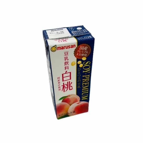 Marusan White Peach Premium Soy Milk..