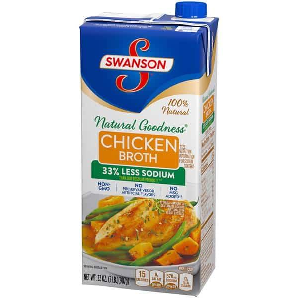 Swanson Chicken Broth 史雲生鸡汤减盐 33% Less..