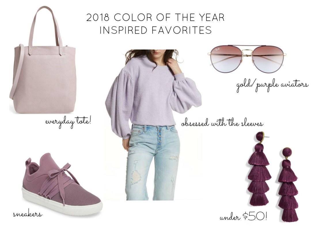 2018 color of the year inspired favorites, ultra violet