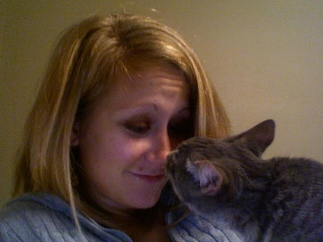 Clara is good company, no doubt. She likes to give me Eskimo kisses.