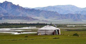 Yurta de una familia nómada en Mongolia (Fuente: Pixabay)