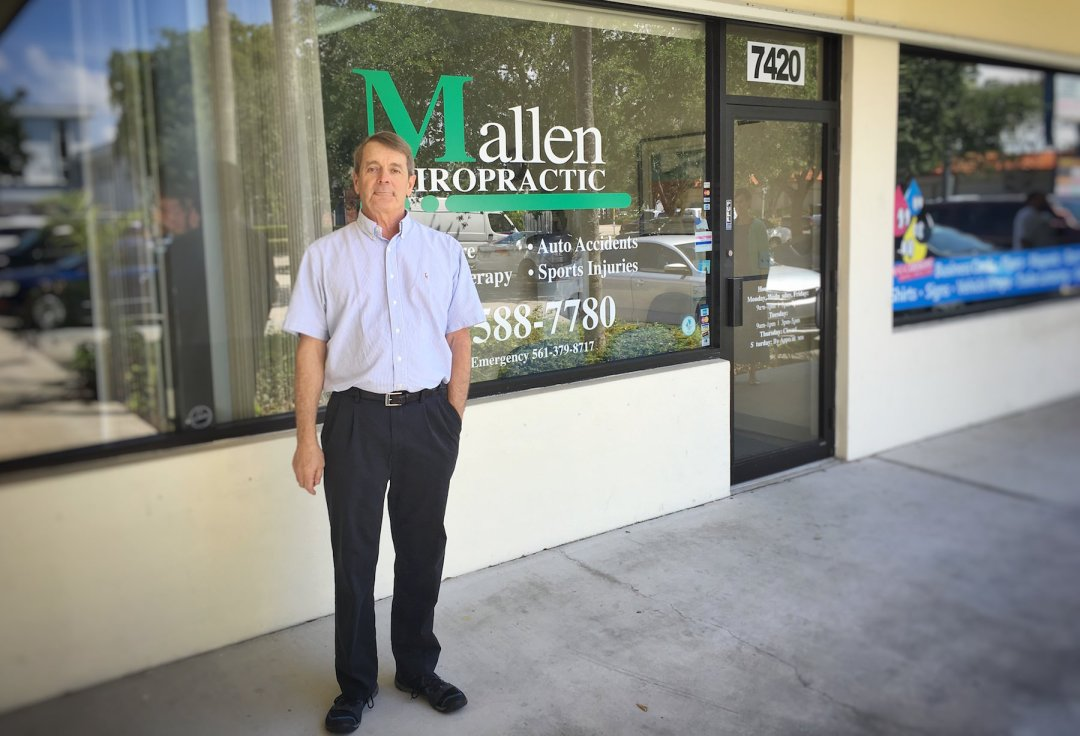 Ed Mallen at Mallen Chiropractic Office in West Palm Beach, FL