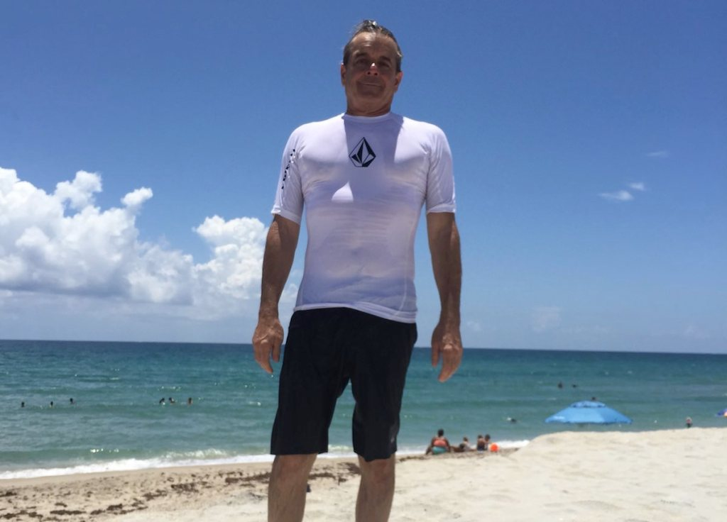 Ed Mallen, DC, enjoying health benefits at South Florida beaches