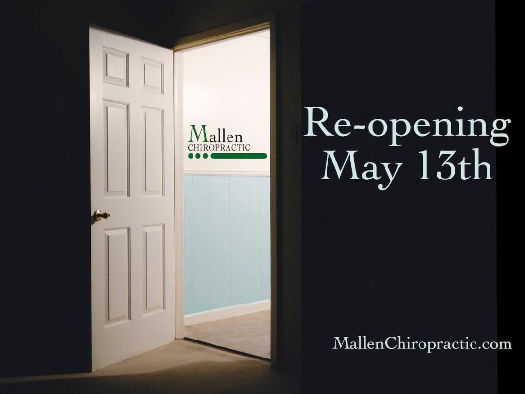 photo of an open door, as Mallen Chiropractic is re-opening in West Palm Beach