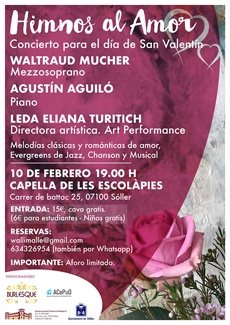 Konzert zum Valentinstag, 10.02. @ Capilla de les Escolápies | Sóller | Illes Balears | Spanien