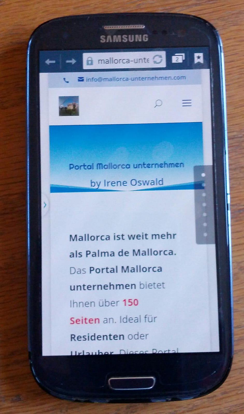 Anzeige Handy OK