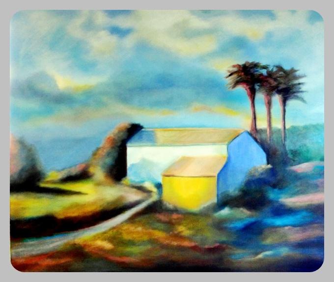 Finca, 2014, 100 x 120 cm, Öl auf Leinwand