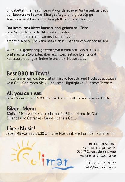 Restaurant SolimarLayout > Flyer Entwicklungwww.restaurantsolimar.eu