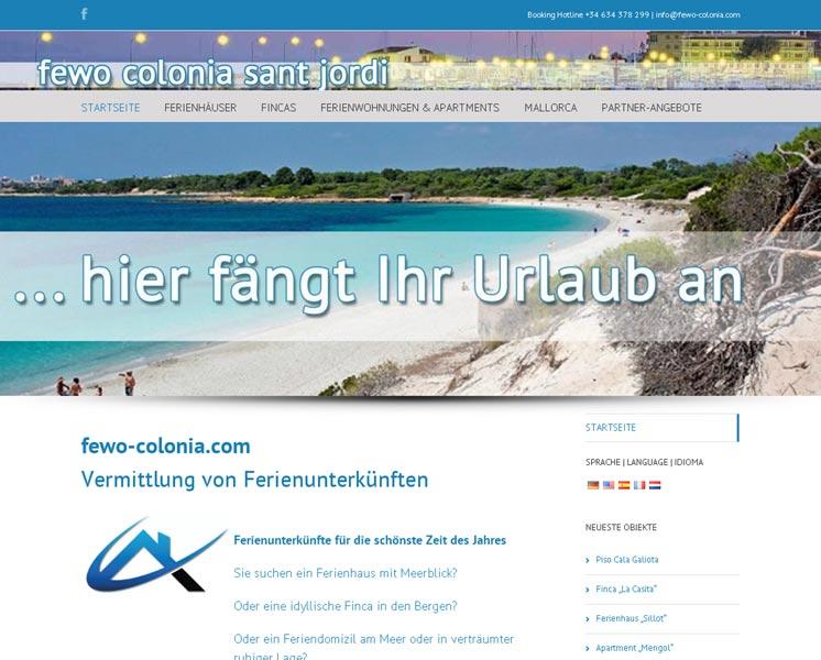 fewo coloniaErstellung / Gestaltung > Websitewww.fewo-colonia.com