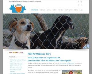 Hilfe für Mallorcas TiereGestaltung / Layout > Website inkl. Online-Spenden-Systemwww.hilfe-fuer-mallorcas-tiere.com