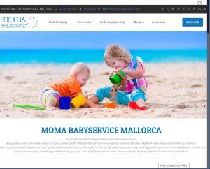 MOMA BABYSERVICE Entwicklung der CI, Grafik & Layout für Online www.moma-babyservice.com
