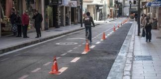 Ciclista en la calle Velázquez