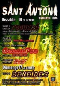 Cartell de Sant Antoni 2016 Andratx