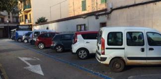 Estacionamientos en zona azul de Algaida