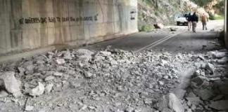 Ma-10: desrpendimiento carretera Andratx Estellencs