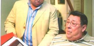 Juan Cabrera, Presidente de PIMEM y de Restauración, con Joan Fuster