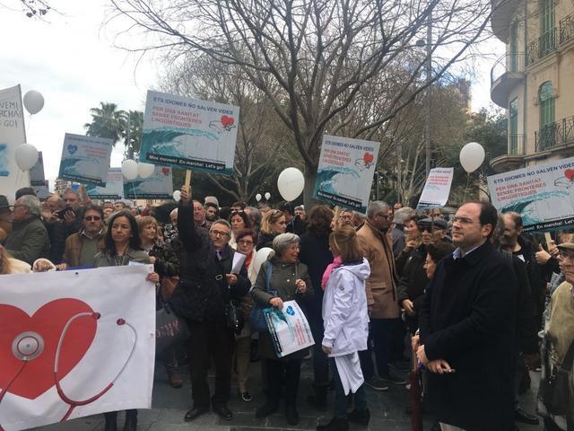 Manifestación Mos Movem requisito catalan